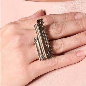 House of Harlow Engraved 3 Stack Ring in Gold